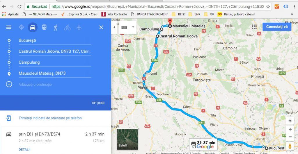 obiective turistice Romania, castrul roman Jidova, Jidava, Campulung, Mausoleul de la Mateias