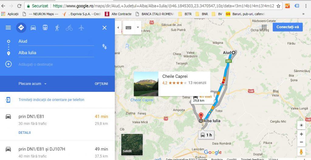 traseu Transilvania, de la Alba Iulia la Aiud, obiective turistice Romania