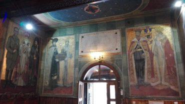 Regina Maria si Regele Ferdinand la biserica Mihai Voda din Bucuresti