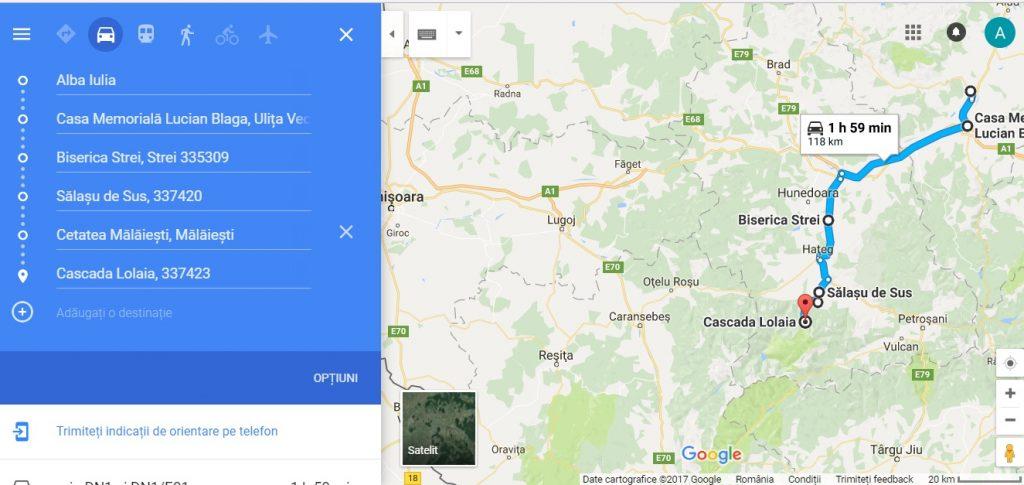 traseu turistic din Deva, Alba Iulia, Timisoara, obiective turistice Romania, hunedoara, Cetatea Malaiesti, Cascada Lolaia, Biserica Strei, Lancram
