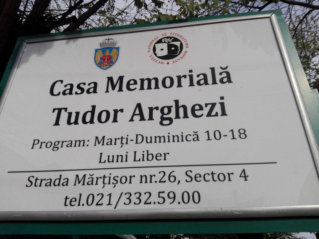Casa memoriala Tudor Arghezi, obiective turistice Bucuresti