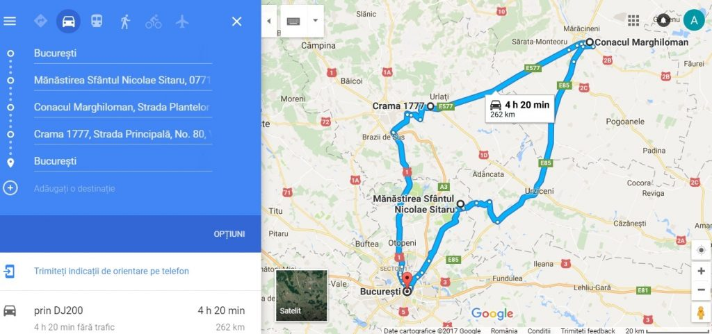 traseu turistic din Bucuresti la Manastirea Balamuci, Conacul Marghiloman si Crama Muzeu 1777