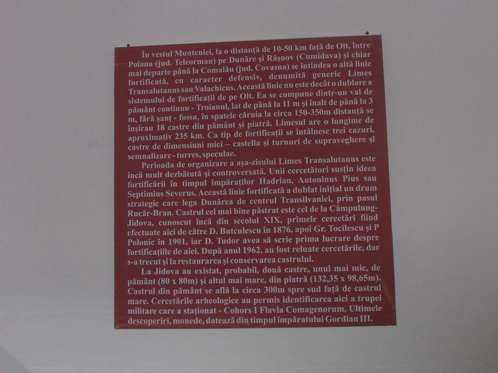 Castrul roman Jidova, Campulung