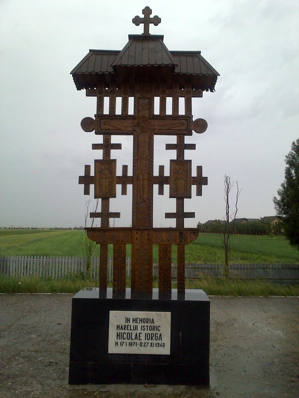 troita in memoria lui Nicolae Iorga, locul unde a fost asasinat de legionari