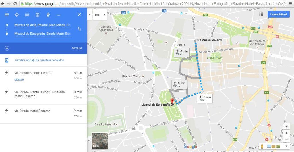 Harta Obiectivelor turistice ale Craiovei