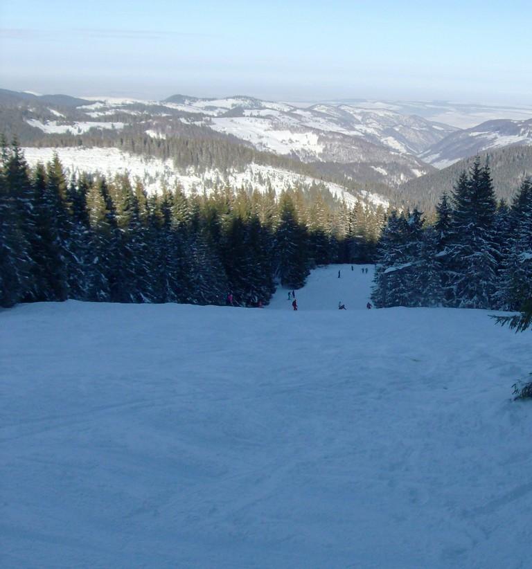Craciun, revelion, zapada, partie de schi in Transilvania pe langa Cluj