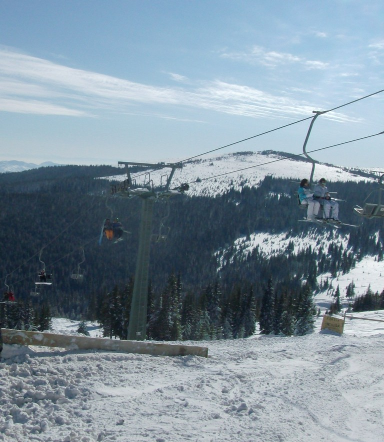 Craciun, revelion, zapada, partie de schi in Transilvania pe langa Cluj, Baisoara