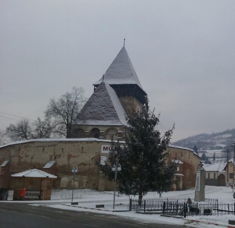 Biserica fortificata muzeu din Axente Sever, obiective turistice in judetul Sibiu