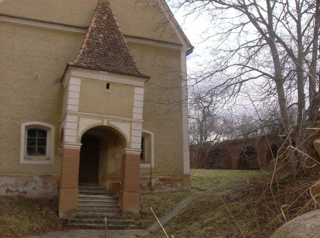 Biserica Rusi, turnul inclinat, obiective turistice Sibiu, Romania, Medias, Transilvania