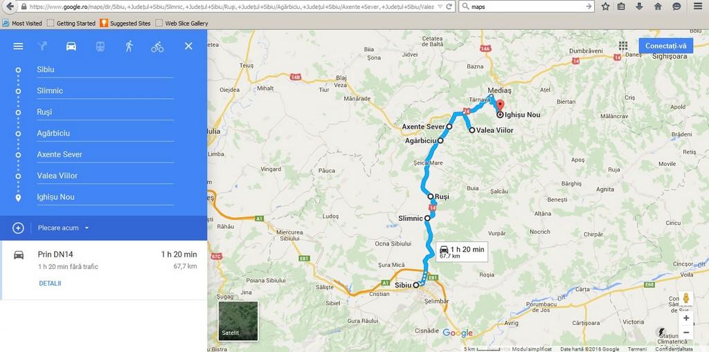 Sibiu, Slimnic, Rusi, Agarbiciu, Axente Sever, Valea Viilor, Ighisu Nou