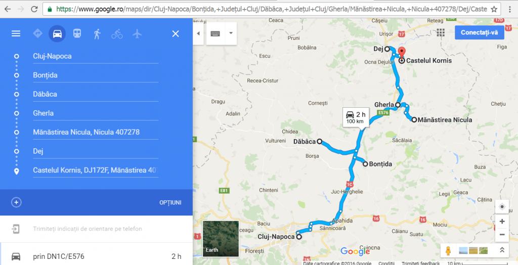 Obiective turistice in judetul Cluj, Cetatea Dabaca, Electic Castle, Dej, parcul Balnear Toroc, Castelul Kornis sau cu Inorogi,