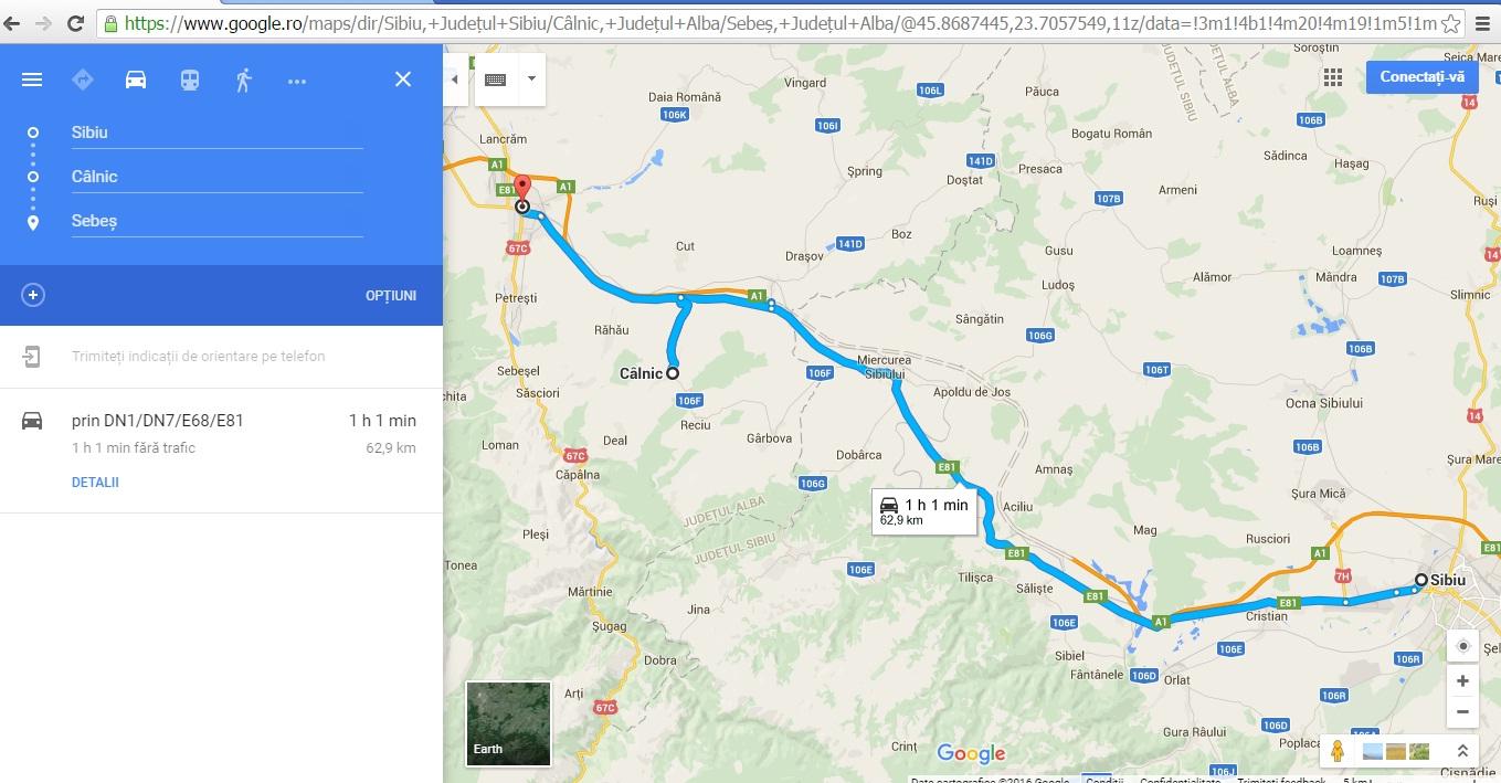 De la Sibiu la Calnic si Sebes