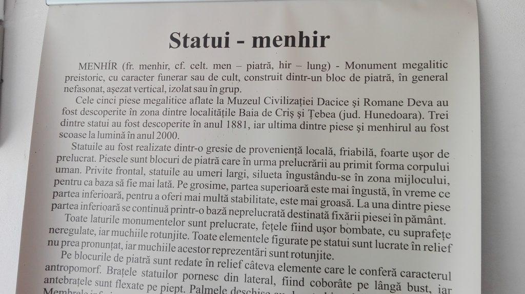 statuile menhir, Infoturism, Deva, obiective turistice Hunedoara Romania, Palatul Bethlen, Muzeul de Istorie