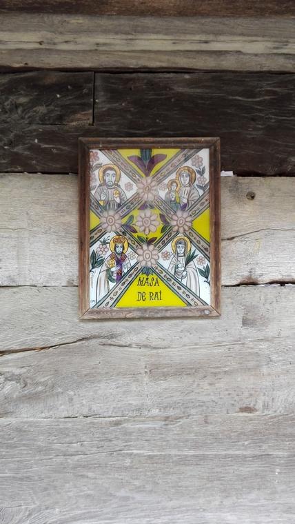 icoana pictata pe sticla