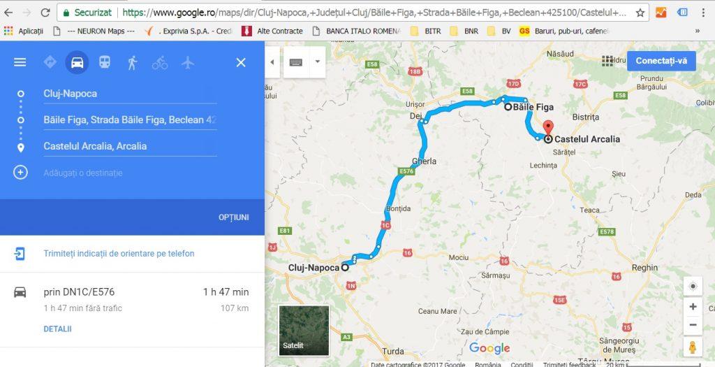 traseu de o zi la Baile Figa si Castelul Arcalia, obiective turistice Romania, Cluj, Dej, Mures, Bistrita