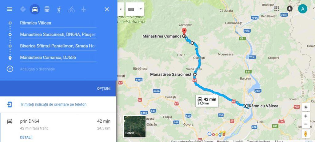Manastirea Saracinesti, Biserica lui Horea din Baile Olanesti si Manastirea Comanca, traseu turistic din Ramnicu Valcea