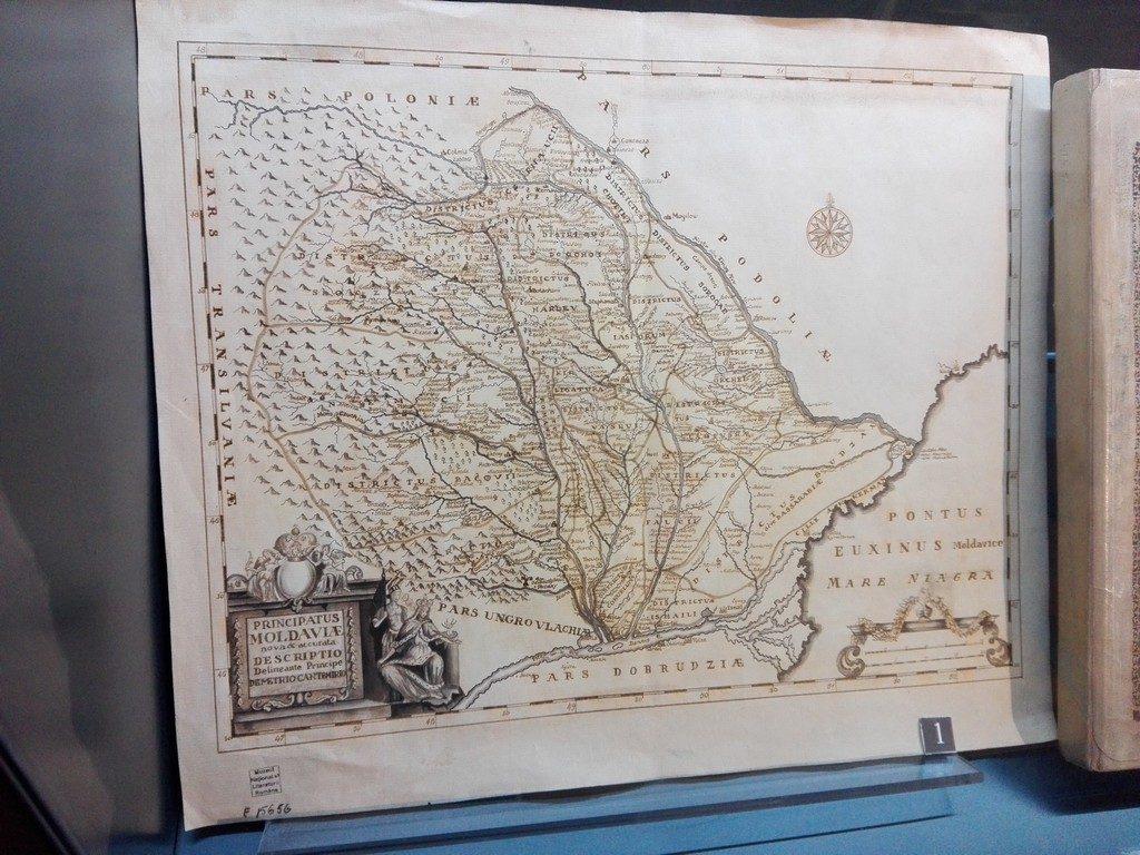 harta Moldovei, Dimitrie Cantemir, Muzeul Literaturii Romane, Bucuresti, Romania