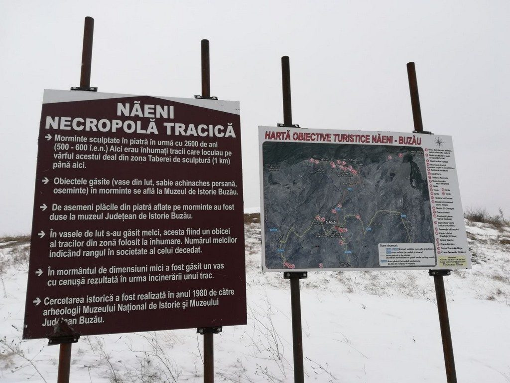 Bisarica dintr-o piatra, si necropola tracica, Tabara de sculptura Naeni, obiective turistice Romania, Buzau
