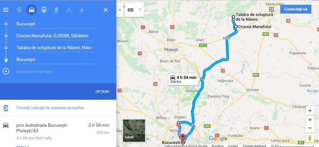 Traseu la Crucea Manafului si la Tabara de sculptura de la Naeni, obiective turistice Buzau, Romania