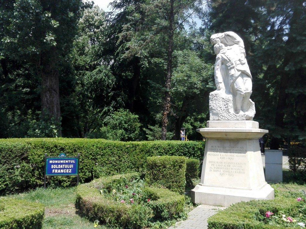 Monumentul eroilor francezi, Parcul Cismigiu, obiective turistice Bucuresti, Romania