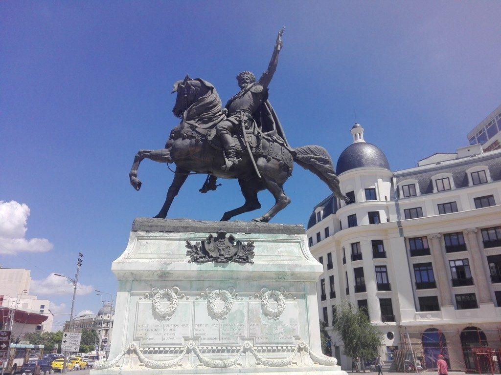 Piata Universitatii, statuia lui Mihai Viteazul, ion Heliade Radulescu, Gheorghe Lazar, Spiru Haret