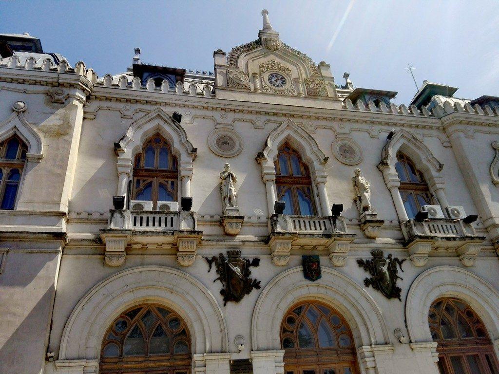 Palatul administrativ sau al prefecturii, arhitect Ion Mincu, Federick Storck, Valurile Dunarii, obiective turistice Galati, Romania, arhitectura, cladiri istorice Moldova