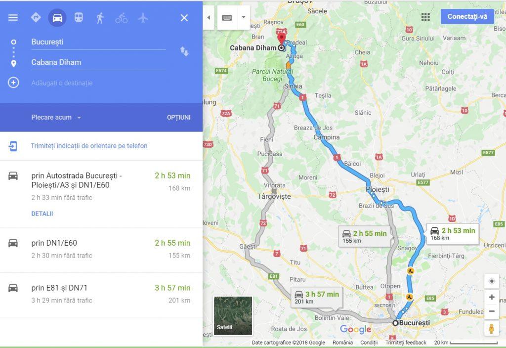 Traseu de o zi din Bucuresti, cabana Diham, cabana Malaiesti