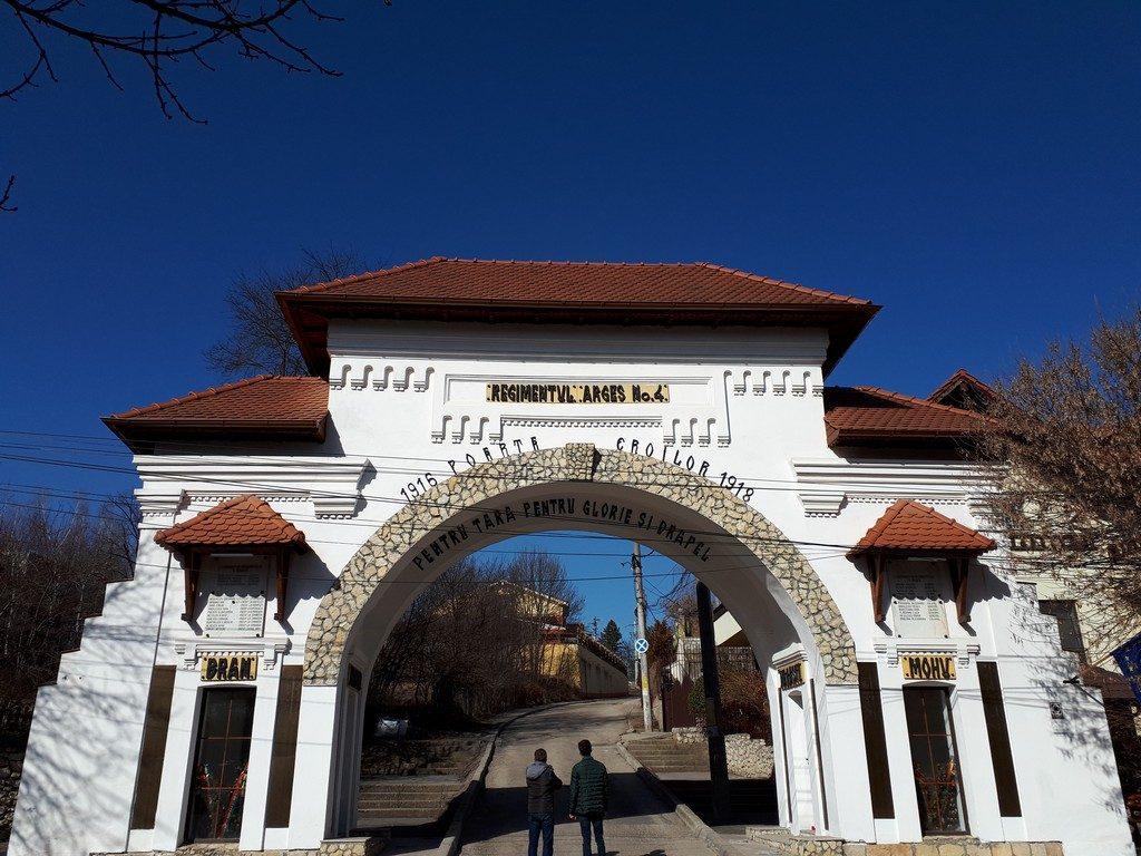 Parcul Trivale, Poarta Eroilor, obiective istorice Pitesti, Arges