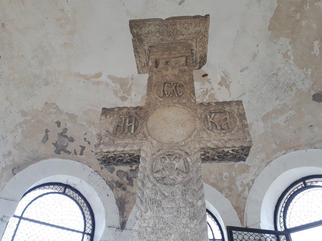 Crucea de la Calugareni, crucea de piatra, Cantacuzino, Mihai Viteazul, Giurgiu, monumente istorice Romania