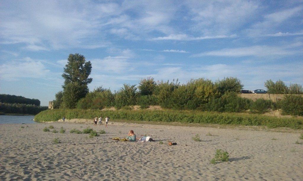 Oltenita, locul de varsare al Argesului in Dunare, Romania